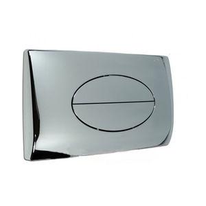 0622 PLACCA OVALE CROMATA (cm 28x18) COMPLETA DI TELAIO PER CASSETTA mod. SARA PUCCI