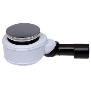SIFONE X PIATTI DOCCIA CON PILETTA DA 90 HL 520F Hutterer & Lechner CON GRIGLIA d.113 mm IN ACCIAIO INOX