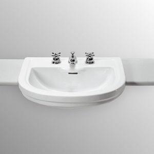 LAVABO SEMINCASSO  A TRE FORI CALLA Ideal Standard colore BIANCO EUROPEO