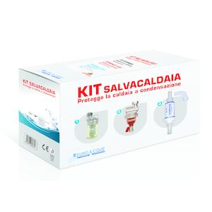 Kit SALVA CALDAIA1 (Neutralizzatore di condensa MININEUTRO + Dosatore di polifosfati DT+ Defangatore magnetico COMPACT EVO)