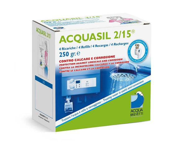 Liquido Acquabrevetti ACQUASIL 2/15® in sacche da 250 gr cadauna (4 sacche per box) per pompe dosatrici MiniDUE