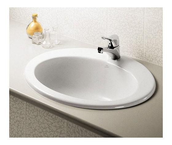 Lavabo incasso soprapiano maiori per rubinetteria monoforo globo ceramiche col bianco europeo - Lavandini bagno da incasso ...