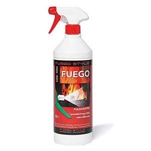 TexPack Fuego - Pulitore spray per vetri di camini e stufe. Flacone dal 1 lt