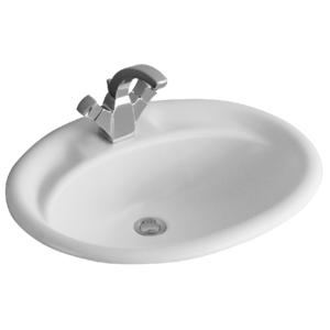 Lavabo da incasso soprapiano Villeroy & Boch mod. GranGracia Florine 640x520 mm cod. 614800 Bianco