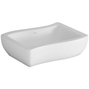 Lavabo da appoggio Loop & Friends 600x455 mm Bianco Alpin CeramicPlus