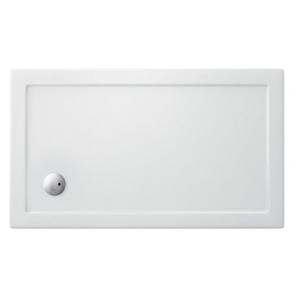 Piatto doccia 1200x100 mm in acrilico rinforzato Clear Gold h35 mm bianco