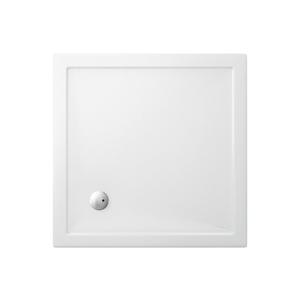 Piatto doccia 700x700 mm in acrilico rinforzato Clear Gold h35 mm bianco