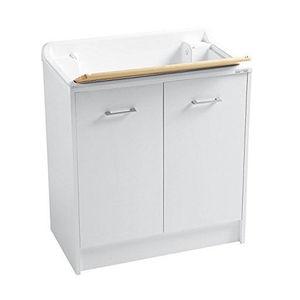 Mobile lavapanni Colavene Domestica cm 80x45 Bianco con asse in legno DL8045B