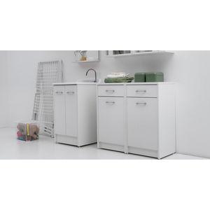 Mobile lavapanni Colavene Domestica cm 60x60 Bianco con asse in legno DL6060B