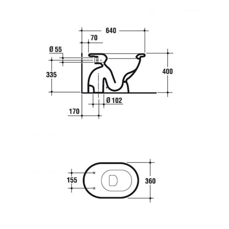Wc Fiorile Ideal Standard Bianco Europeo Senza Sedile Bagno Idraulica Shop