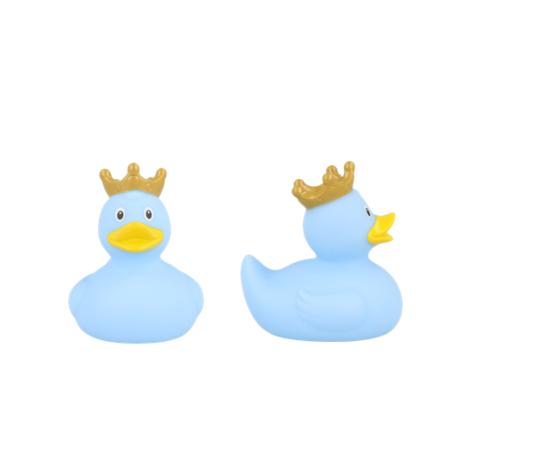 Papera con corona blu