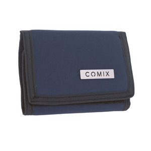portafoglio monocolore blu comix