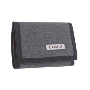 portafoglio monocolore grigio comix
