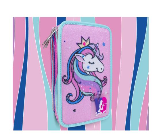 3 zip unicorno rosa