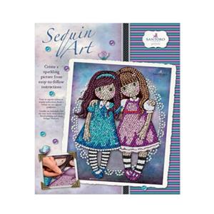 santoro gorjuss sequin art bambine