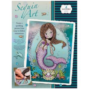 gorjus santoro sequin art sirena
