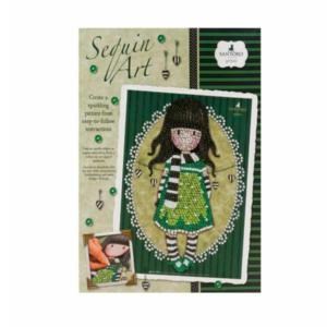 santoro gorjuss sequin art bambina con sciarpa