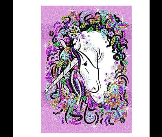 Sequin art unicoro1