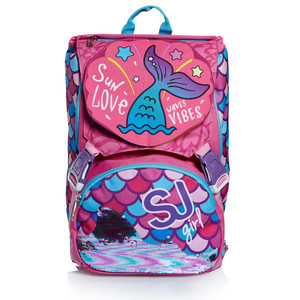 zaino seven sj school pack sweet wave (zaino+astuccio 3 zip)