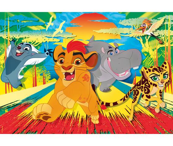Disney lion guard 24 pezzi supercolor puzzle pvfokua