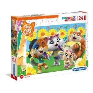 puzzle supercolor 24 pezzi 44 gatti