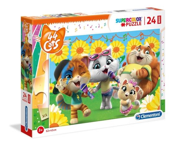 44 cats 24 pezzi supercolor puzzle qy5neba