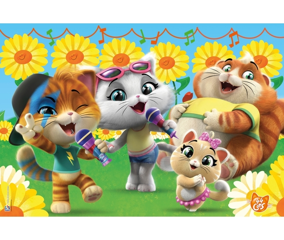 44 cats 24 pezzi supercolor puzzle k2dell1