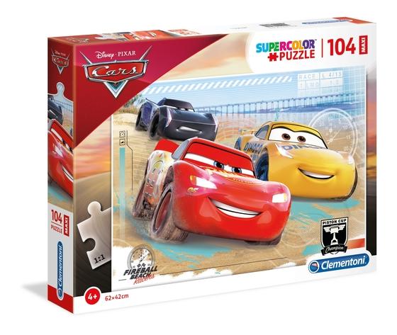Disney cars 104 pezzi supercolor puzzle ptjhbkc