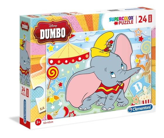 Disney dumbo 24 pezzi supercolor puzzle cjfu8sa