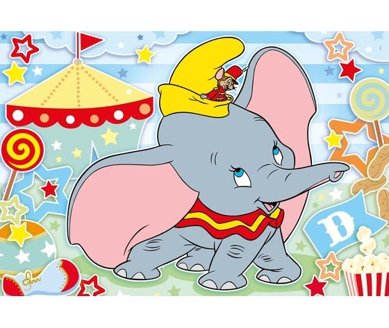 Disney dumbo 24 pezzi supercolor puzzle qmt39kc