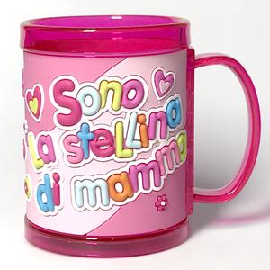 tazza personalizzata con nome a rilievo Sono la stellina di mamma