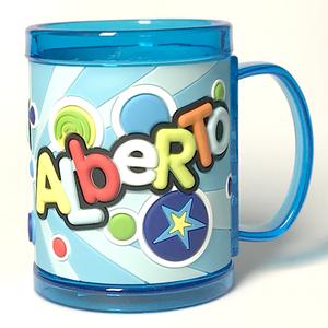 Tazza personalizzata con nome a rilievo Alberto