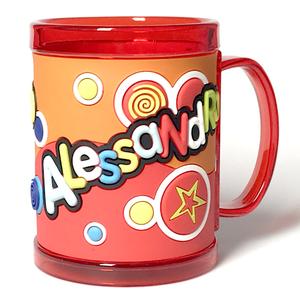 Tazza personalizzata con nome a rilievo Alessandro