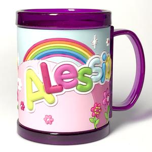 Tazza personalizzata con nome a rilievo Alessia