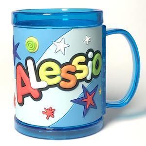 Tazza personalizzata con nome a rilievo Alessio
