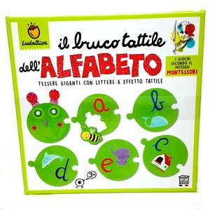 ludattica bruco tattile dell'alfabeto