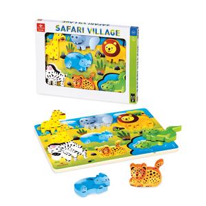 puzzle safari in legno dal negro