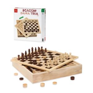 scacchi, dama, tris dal negro