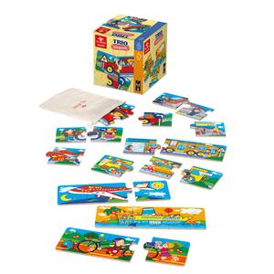 mini puzzle 3 pezzi trasporti dal negro