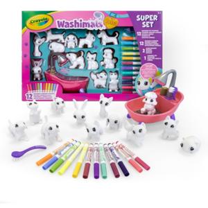 washimals super set attività crayola