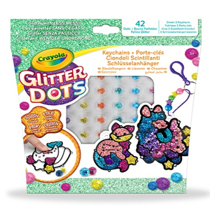 glitter dots ciondoli scintillanti crayola