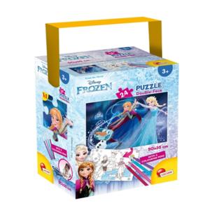 puzzle in a tube mini frozen 24 pezzi lisciani
