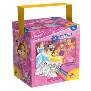 puzzle in a tube mini principesse 24 pezzi lisciani
