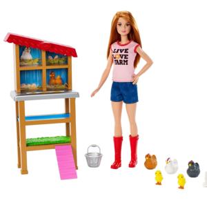 barbie carriere playset fattoria dei polli