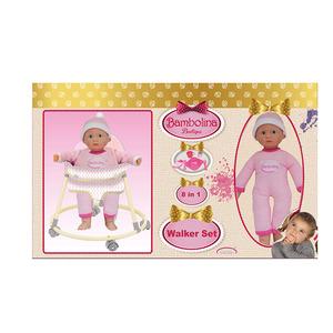 bambola con girello bambolina