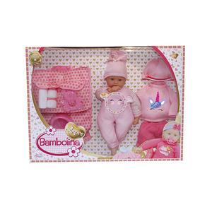 bambola con set pappa e vestitino