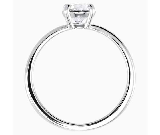 Anello attract  bianco  placcatura rodio swarovski 5402428 02