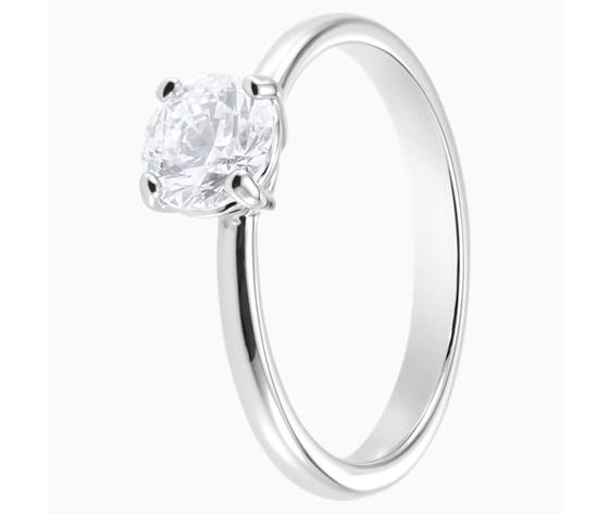 Anello attract  bianco  placcatura rodio swarovski 5402428 03