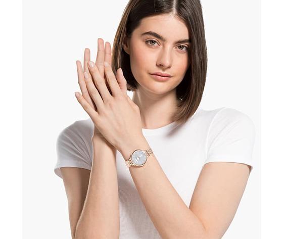 Orologio crystalline chic  bracciale di metallo  tono oro rosa  pvd oro rosa swarovski 5544590 04