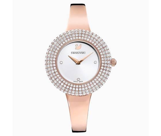 Orologio crystal rose  bracciale di metallo  bianco  pvd oro rosa swarovski 5484073